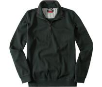 Pullover Troyer Baumwolle tannengrün