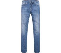 Blue-Jeans, Modern Fit, Baumwoll-Stretch,