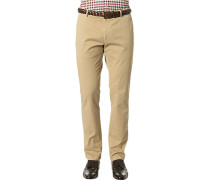 Herren Hose Chino Biarritz-D Regular Fit Baumwoll-Stretch beige