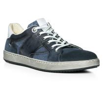 Herren Schuhe ANDRE Leder-Textil-Mix blau