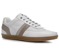 Herren Schuhe Sneaker Kalbleder weiß weiß,weiß