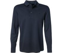 Herren Polo-Shirt Polo Baumwoll-Jesey navy blau