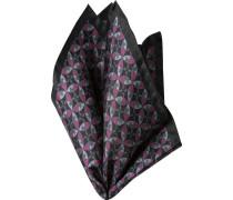 Accessoires Einstecktuch Seide schwarz-pink gemustert