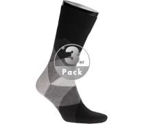 Socken Socken, Baumwolle, -grau gemustert