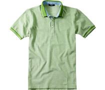 Polo-Shirt Polo Baumwoll-Piqué hellgrün
