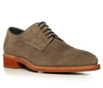 Herren Schuhe Derby Kalbvelourleder graubraun braun,braun