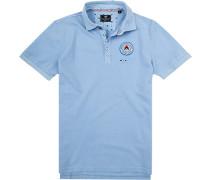 Polo-Shirt Polo Baumwoll-Piqué hellblau