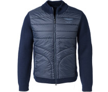 Cardigan Wolle-Microfaser navy