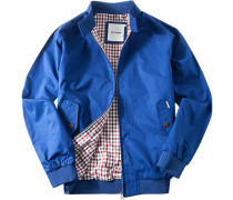 Herren Jacke Blouson Baumwolle saphirblau blau,rot