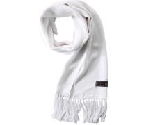 Herren  Schal Seide weiß gemustert