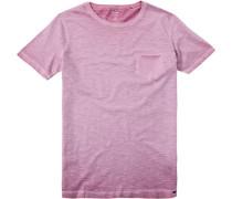Herren T-Shirt Baumwolle rosa meliert