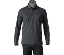 Herren Polo-Shirt Polo Baumwoll-Piqué schwarz-weiß gemustert