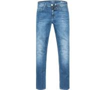 Jeans Slim Fit Baumwolle jeansblau