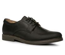 Schnürschuhe Leder wasserabweisend schwarz