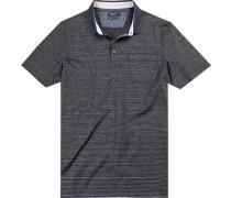 Polo-Shirt Polo Baumwolle mercerisiert dunkelblau- gestreift