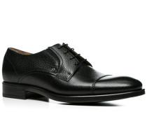 Herren Schuhe Derby Kalbleder schwarz schwarz,braun