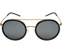 Brillen Sonnenbrille, Metall-Kunststoff, -antikgold