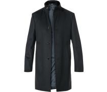 Mantel Schurwolle-Kaschmir schwarz