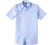 Oberhemd Slim Fit Chambray hellblau