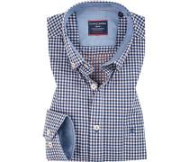 Hemd, Comfort Fit, Baumwolle, weiß- kariert