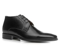 Herren Schuhe Schnürstiefeletten Kalbleder schwarz