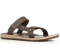Herren Schuhe Sandalen Nubuk dunkelbraun