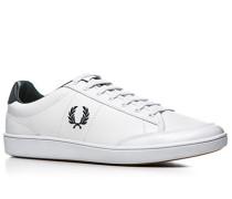 Herren Schuhe Sneaker Leder weiß weiß,blau