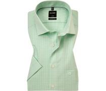 Hemd Modern Fit Baumwolle hellgrün