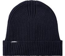 Mütze, Baumwolle-Wolle, dunkelblau