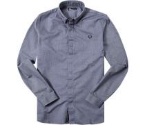 Hemd Oxford jeansblau
