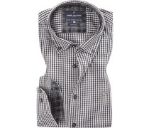 Hemd, Oxford, -schwarz kariert