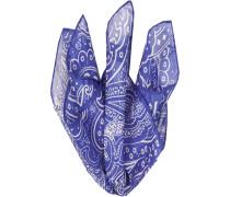 Herren Accessoires  Einstecktuch Seiden-Mix blau gemustert