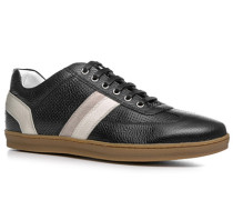 Herren Schuhe Sneaker Kalbleder schwarz schwarz,weiß