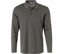 Polo-Shirt Polo, Baumwolle, anthrazit meliert