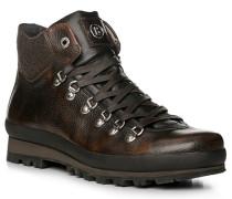 Schuhe Stiefelette, Kalbleder-Loden, dunkelbraun
