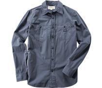 Hemd, Popeline, graublau