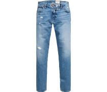 Jeans Slim Fit Baumwolle hellblau