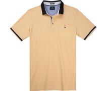 Polo-Shirt Polo Baumwoll-Pique meliert