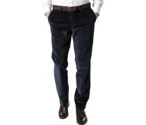Hose Cordhose Contemporary Fit Baumwoll-Stretch marineblau