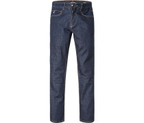 Blue-Jeans Regular Comfort Fit Baumwoll-Stretch dunkelblau