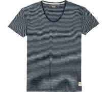 T-Shirt Baumwolle -weiß gestreift