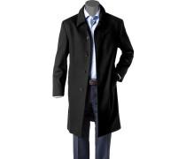 Herren Mantel Schurwolle-Kaschmir navy blau,schwarz