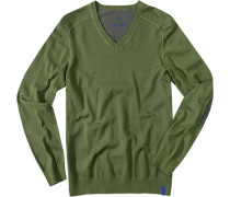 Pullover Baumwolle olive