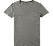 T-Shirt Baumwolle-Bambus graugrün