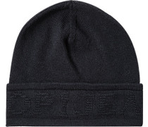 Mütze Wolle-Kaschmir nachtblau