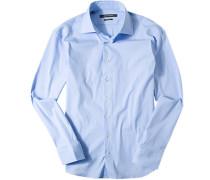 Oberhemd Slim Fit Baumwolle hellblau
