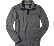 Pullover Troyer, Baumwolle, gemustert