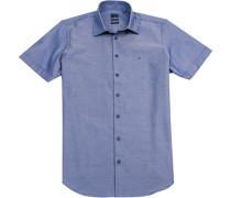 Hemd Modern Fit Baumwolle marine gemustert