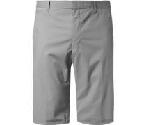 Hose Bermudashorts Slim Fit Baumwolle
