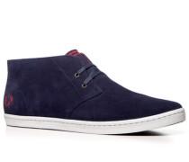 Herren Schuhe Desert Boots Veloursleder navy blau,rot